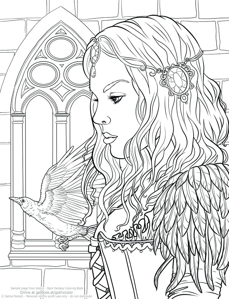 736x960 Coloring Pages Of People Adult Dark Detailed Free Colouring