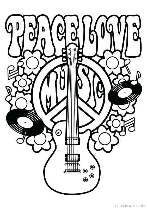 Peace Sign Coloring Pages At Getdrawings Com Free For Personal Use