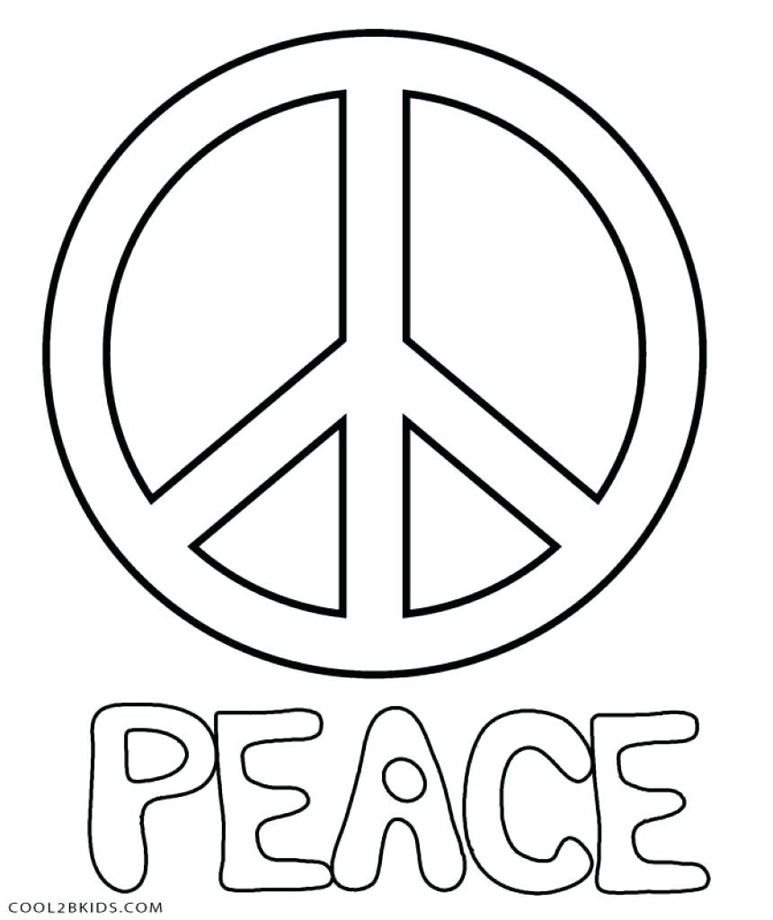 860x1024 Free Printable Peace Sign Coloring Pages Intended For Cool