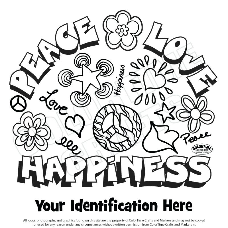 800x800 Free Printable Peace Sign Coloring Pages Love And Happiness