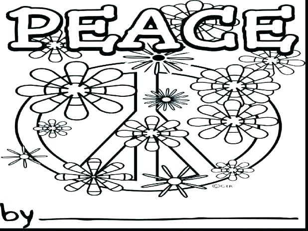 618x463 Free Printable Peace Sign Coloring Pages Printable Coloring Pages