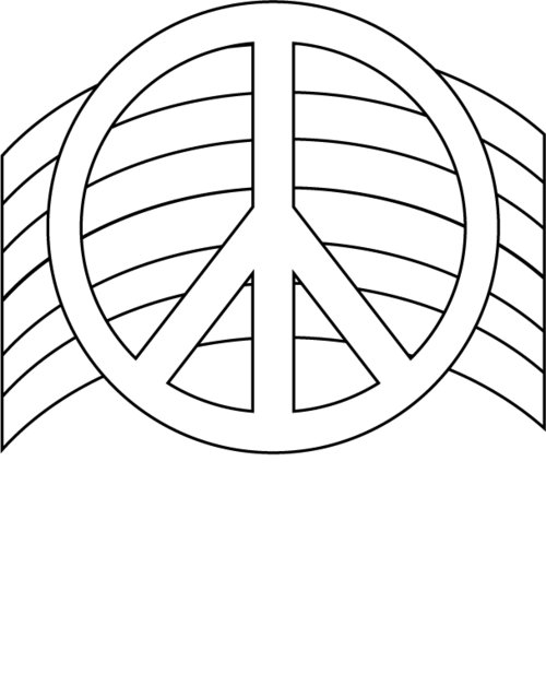 500x617 Free Printable Peace Sign Coloring Pages Gtgt Disney Coloring Pages
