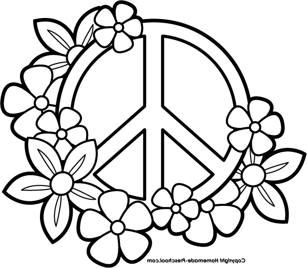 599x522 Peace Coloring Pages Peace Sign Great Peace Sign Coloring Pages