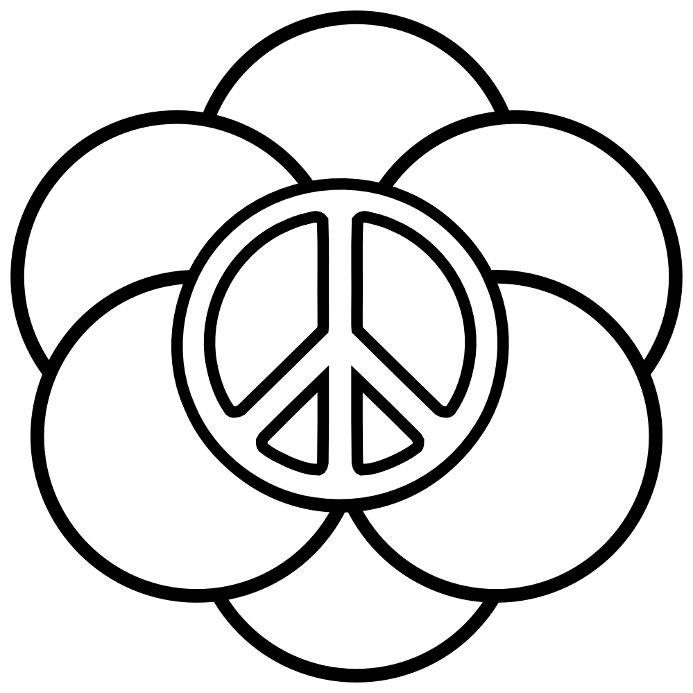 999x999 Peace Sign Coloring Pages