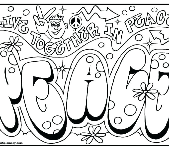 678x600 Peace Sign Coloring Pages As Well As Peace Sign Coloring Pages