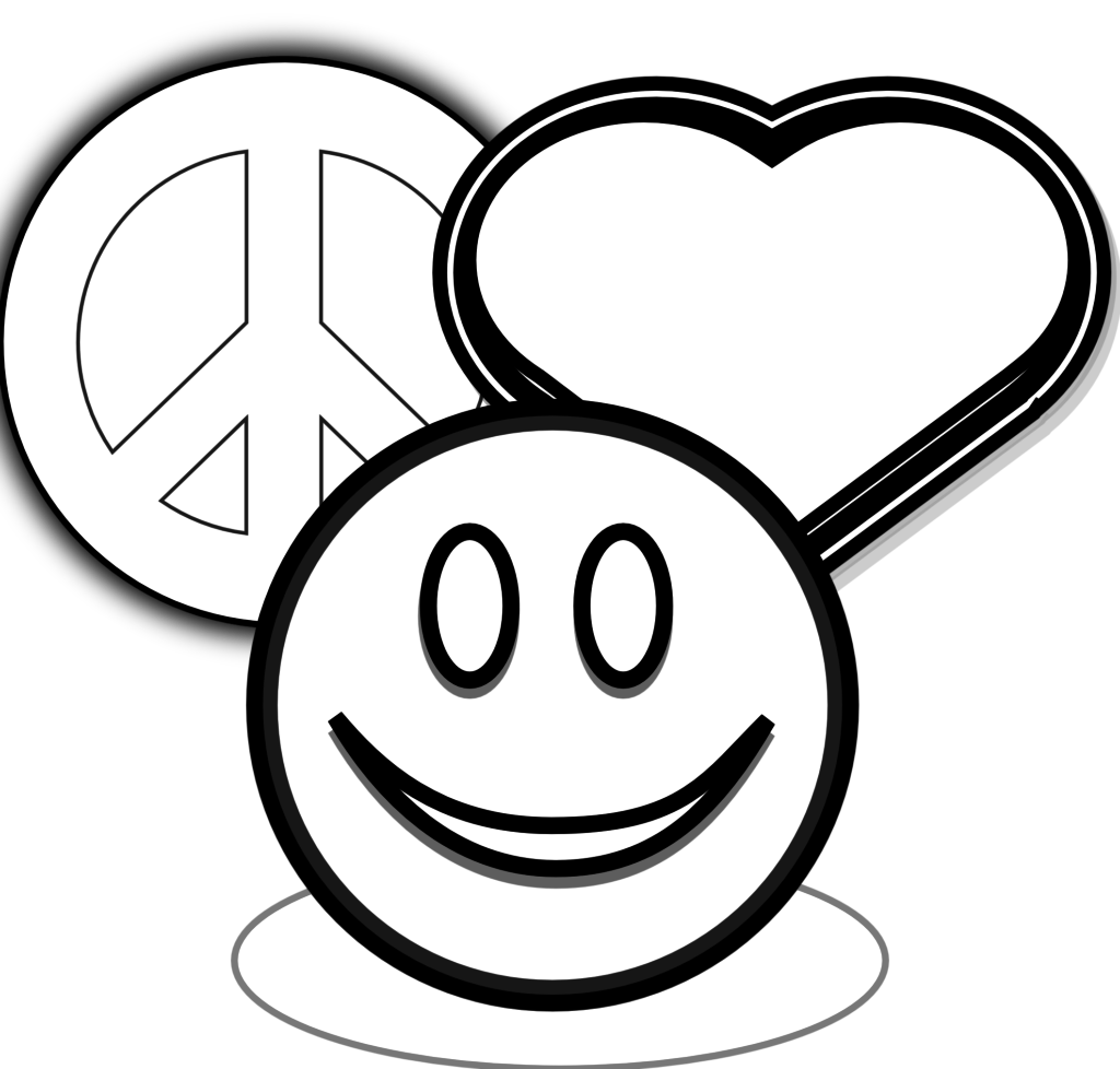 1024x978 Peace Sign Coloring Pages To Print