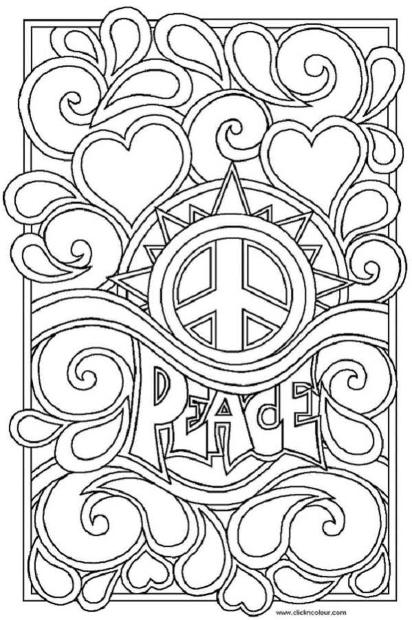599x900 Peace Sign Coloring Pages For Adultscoloringpages, For Kids