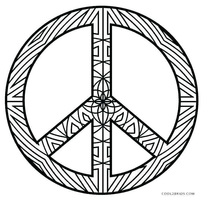 710x700 Peace Sign Coloring Pages Icontent