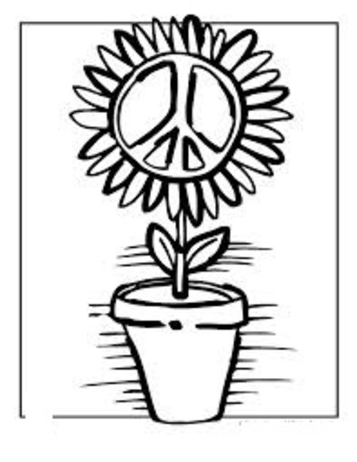 500x647 Free Coloring Pages Free Printable Peace Sign Coloring Pages