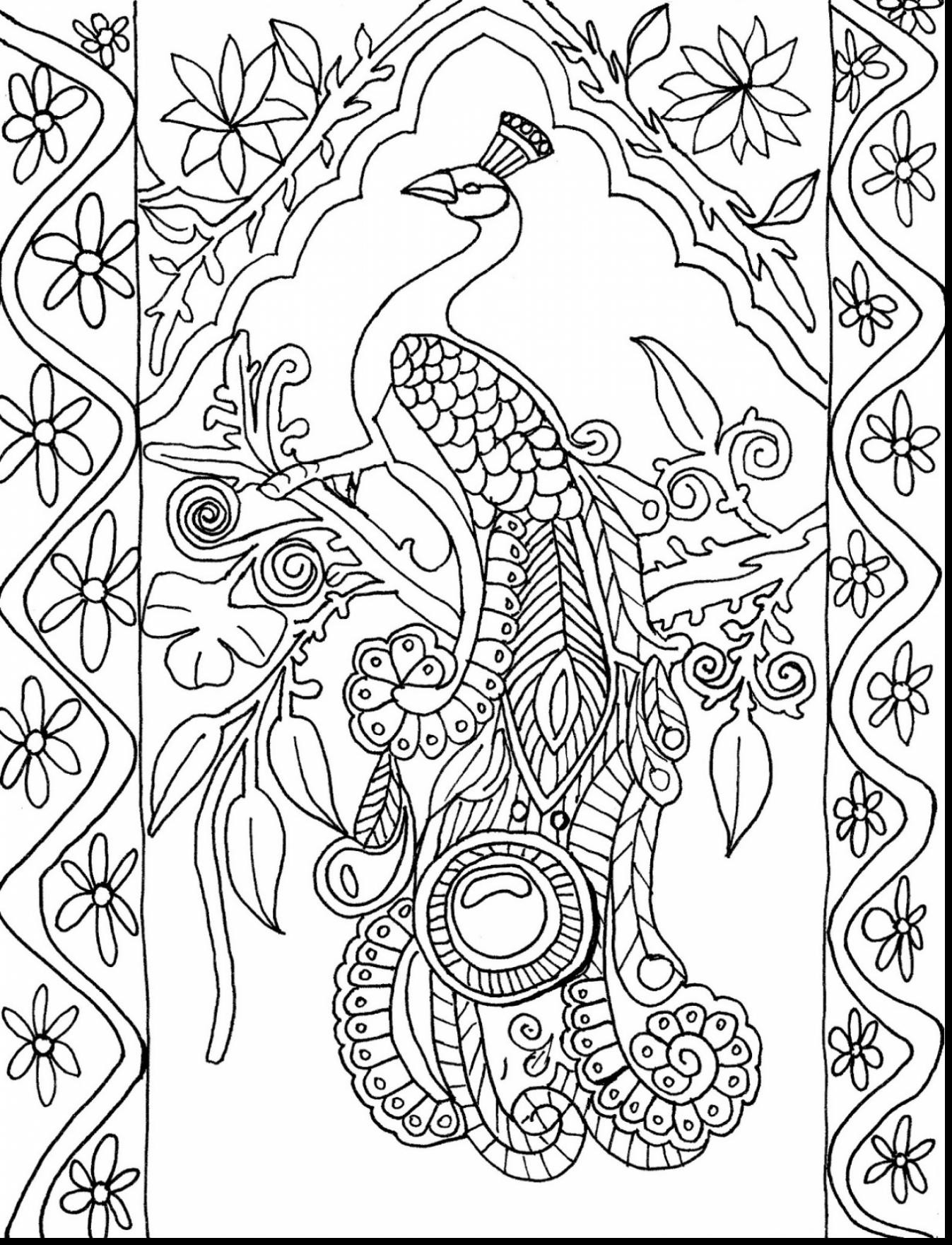 1347x1760 New Free Printable Peacock Coloring Pages For Adults Fresh