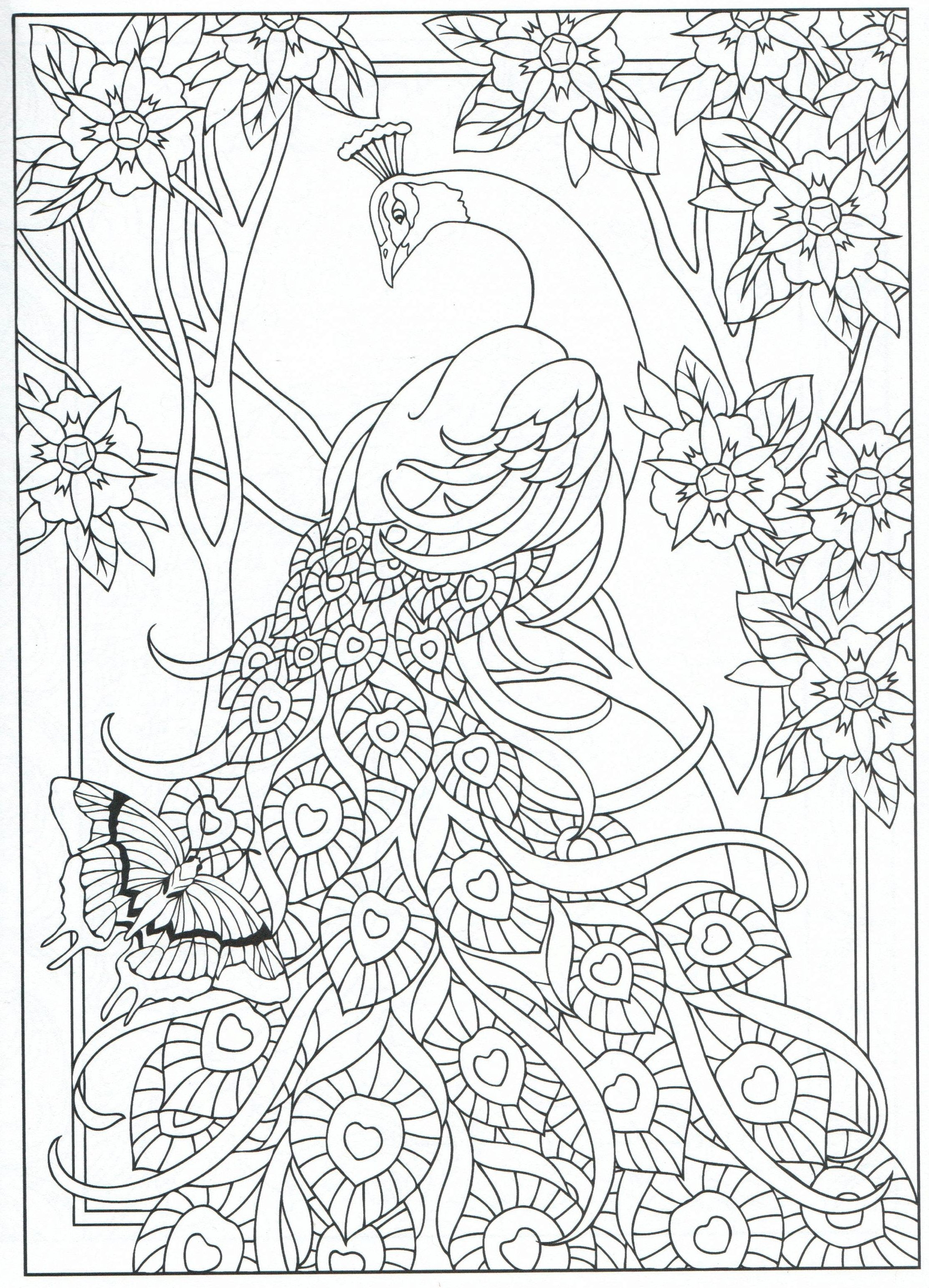 2225x3082 Best Outstanding Peacock Adult Coloring Pages Printable With New