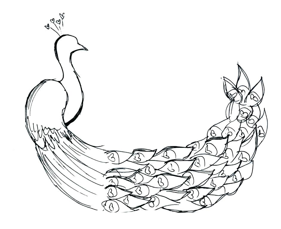 940x764 Peacock Coloring Page Feather Coloring Page As Well As Peacock