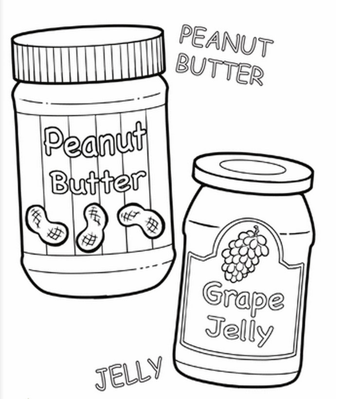 Peanut Butter Coloring Page