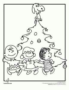 231x300 A Charlie Brown Christmas Coloring Pages Peanuts Gang Christmas