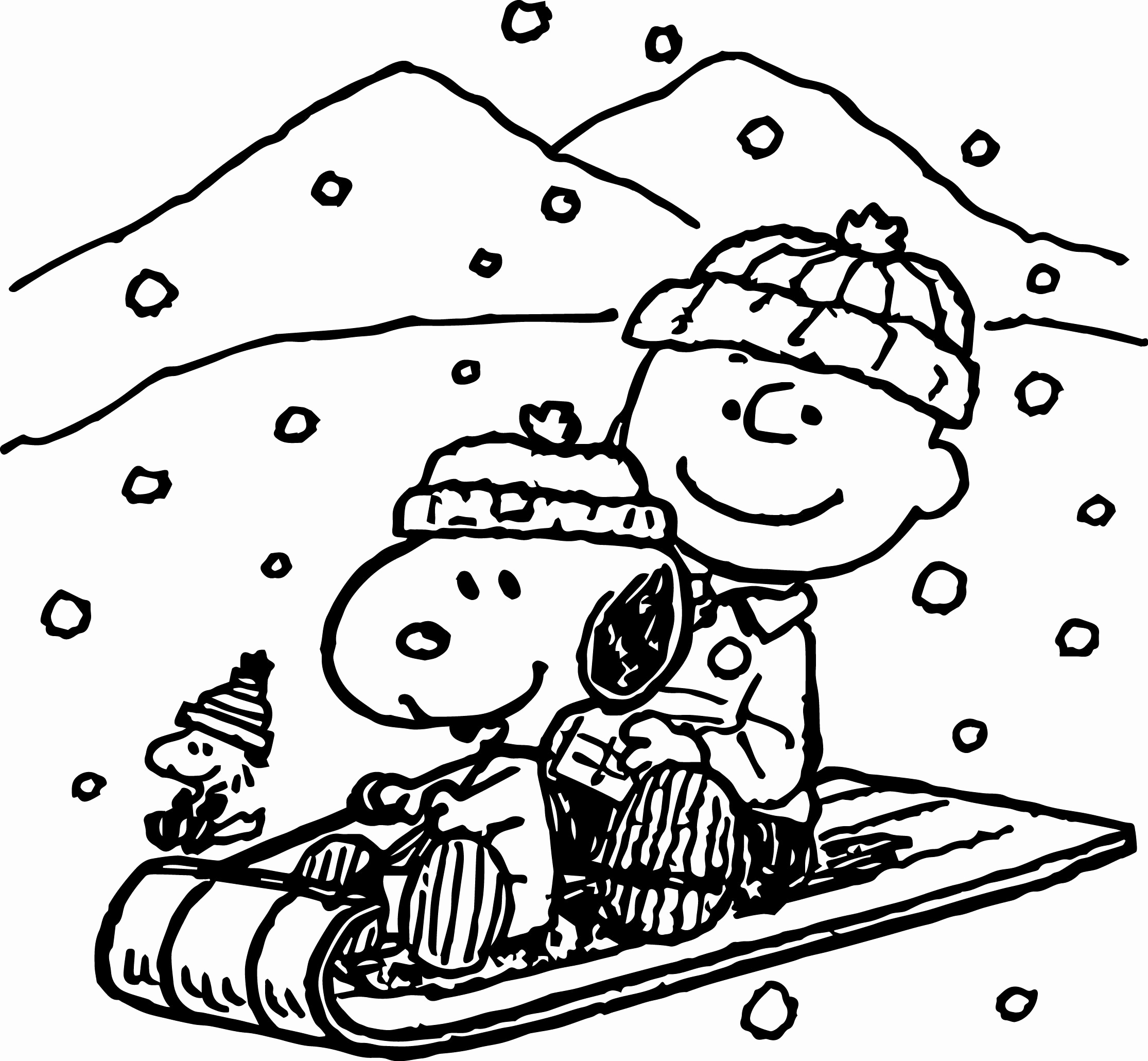 2230x2060 House Coloring Pages Unique Snoopy Winter Coloring Page