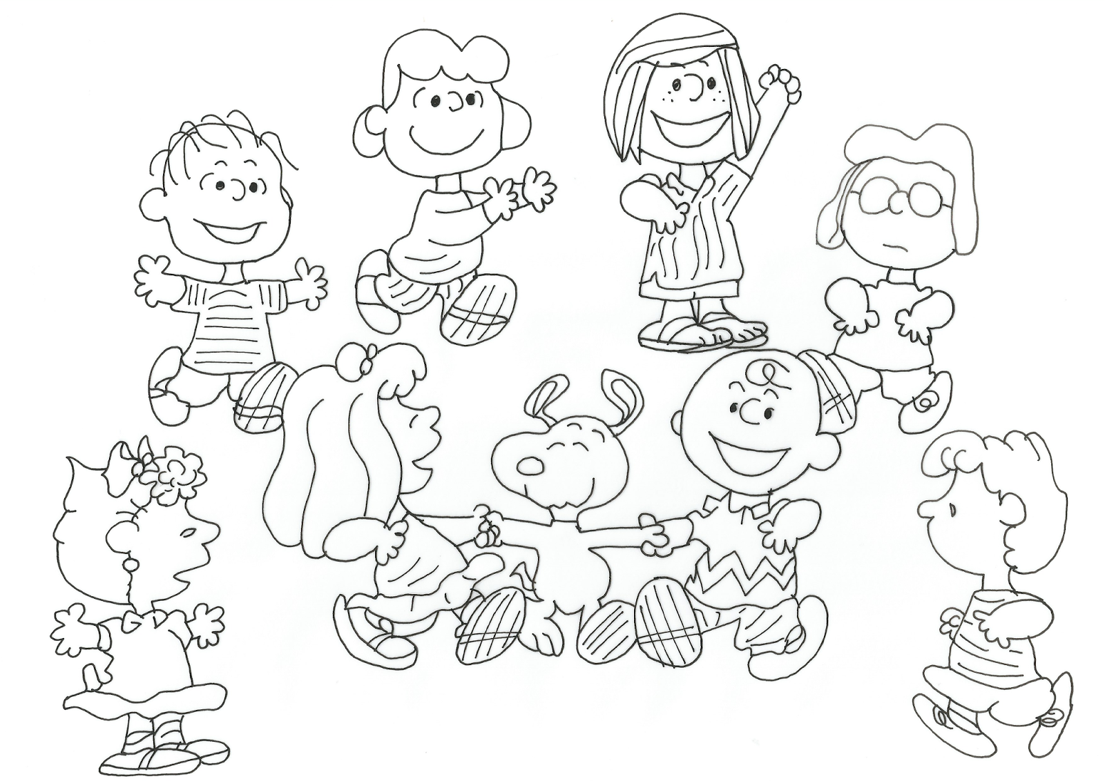 1600x1132 Free Charlie Brown Snoopy And Peanuts Coloring Pages Charlie