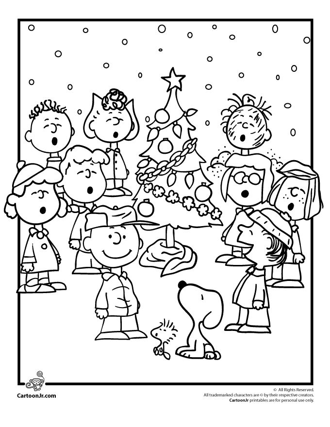 680x880 A Charlie Brown Christmas Coloring Pages Charlie Brown Christmas