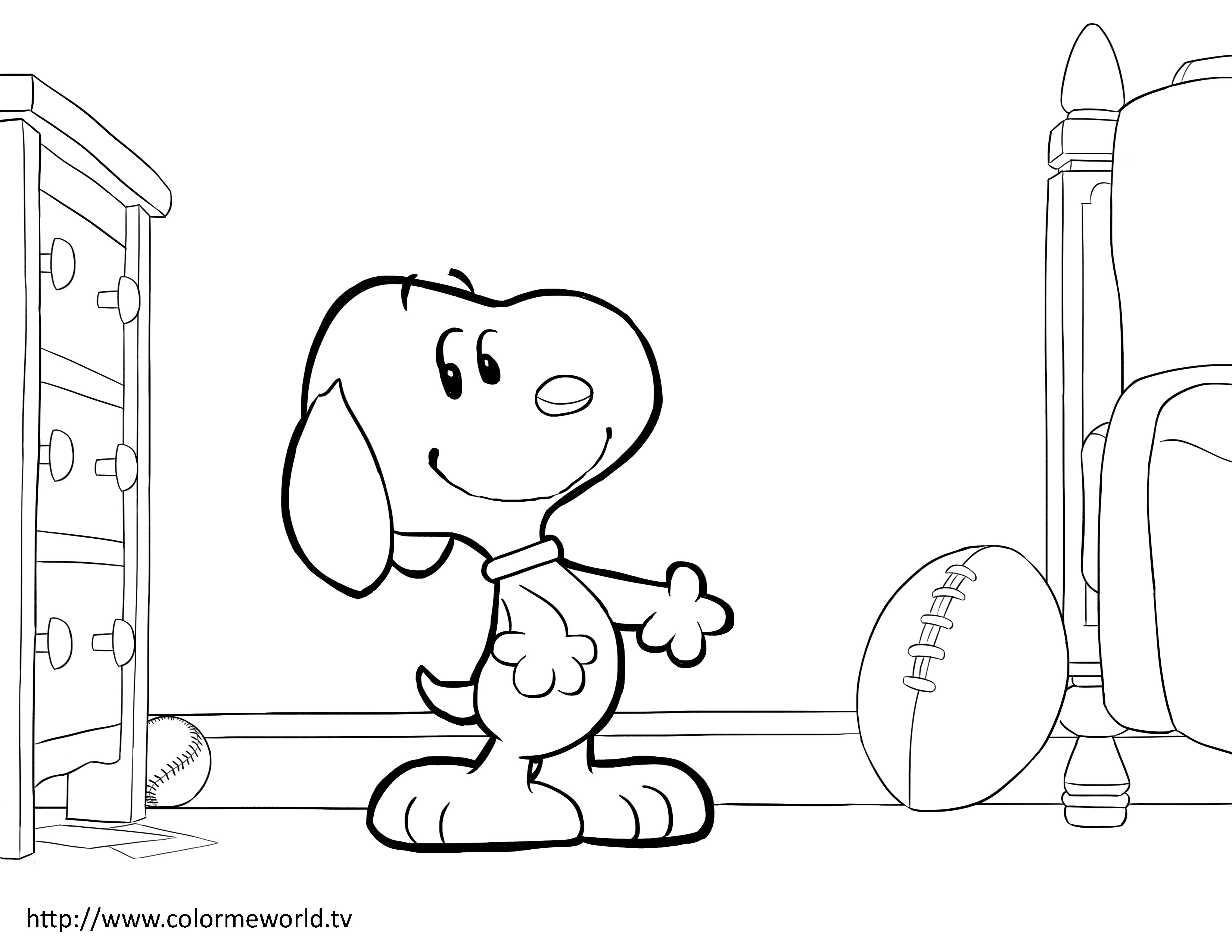 3300x2550 Snoopy With Map Peanuts Gang Coloring Book Page Printable