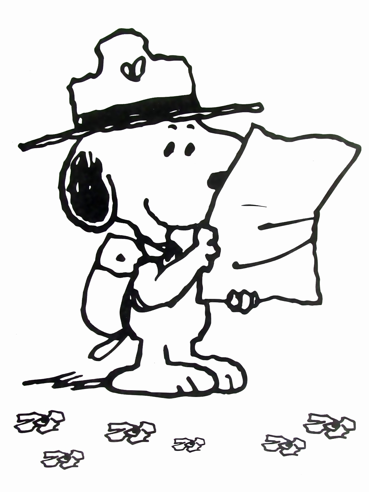 1200x1600 Alien Coloring Pages Lovely Snoopy With Map Peanuts Gang Coloring