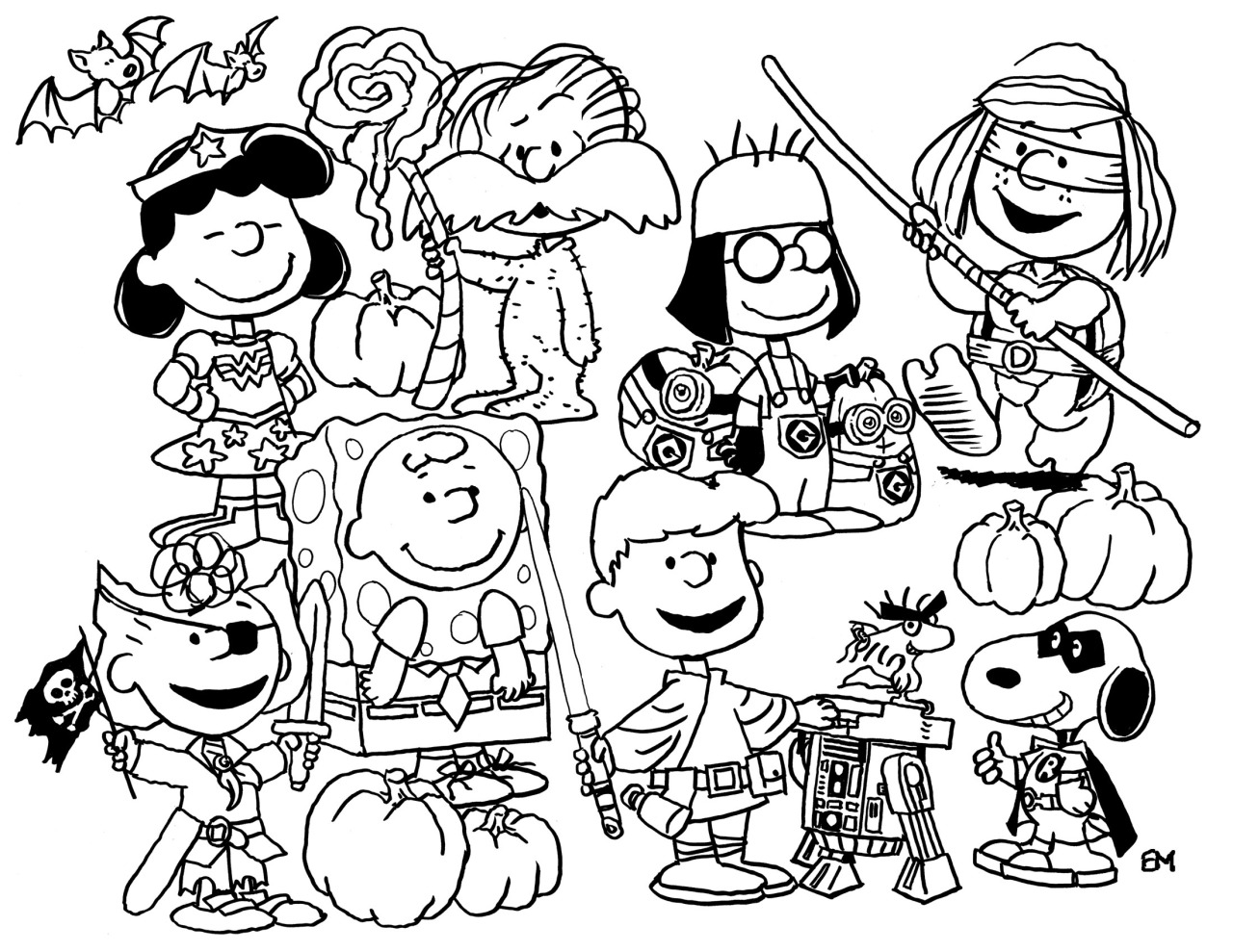 peanuts coloring pages halloween | Peanuts Halloween Coloring Pages at GetDrawings.com | Free ...