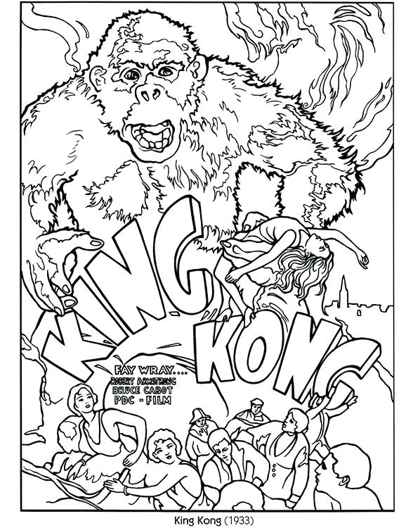 588x750 Movie Coloring Pages King Color Your Own Poster Publications