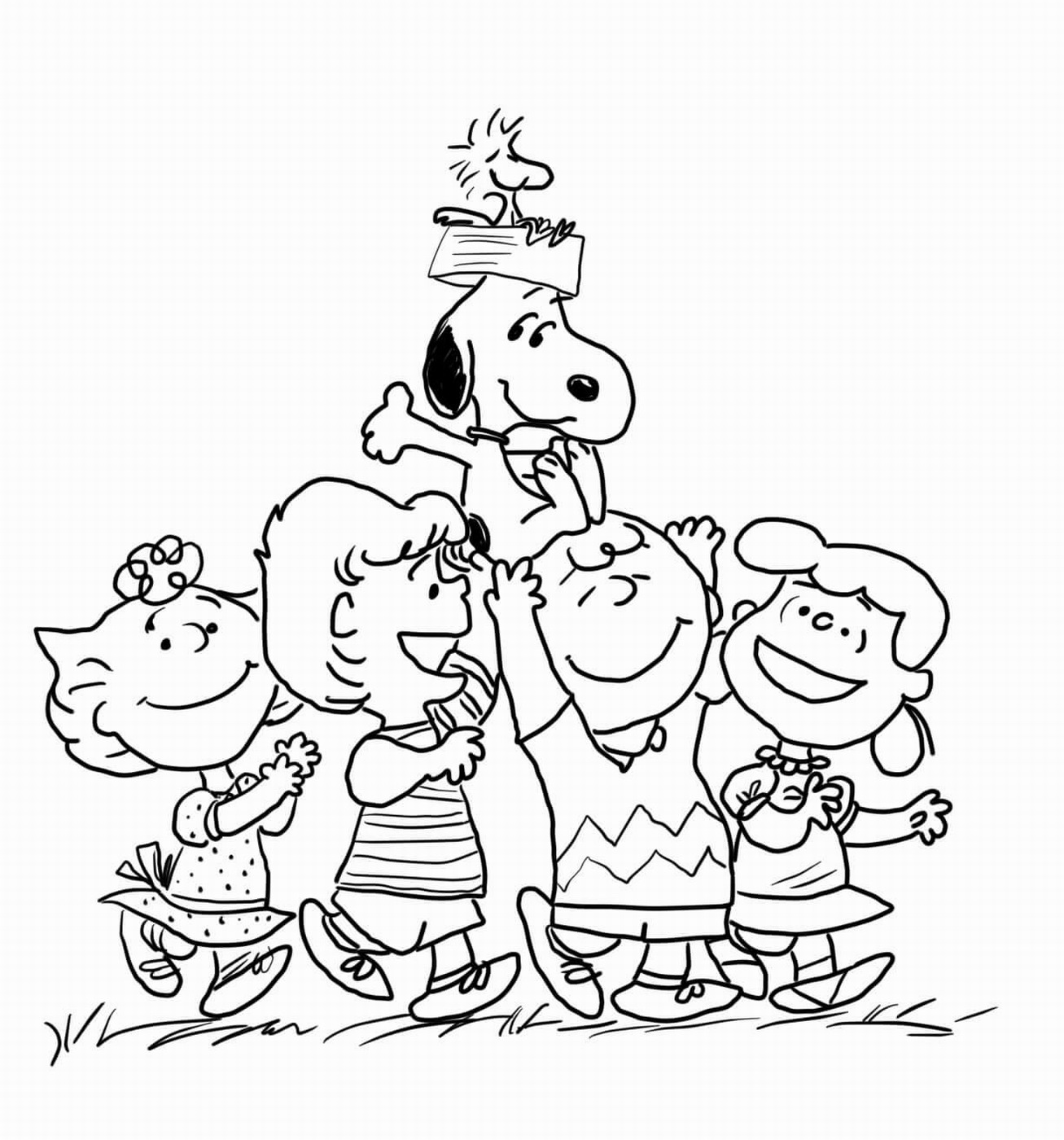 1307x1400 The Peanuts Movie Coloring Pages