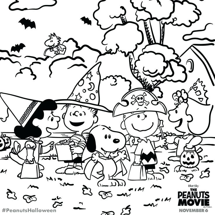 736x736 Peanuts Halloween Coloring Pages Charlie Brown Halloween Coloring