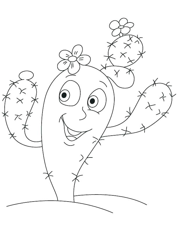 612x792 Cactus Coloring Pages Cactus Coloring Pages Page Prickly Pear