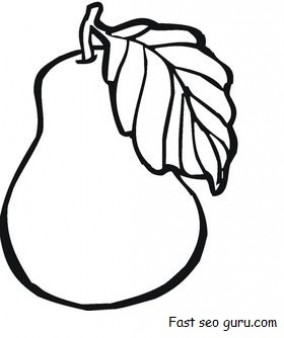 284x338 Print Out Fruit Pear Coloring Pages