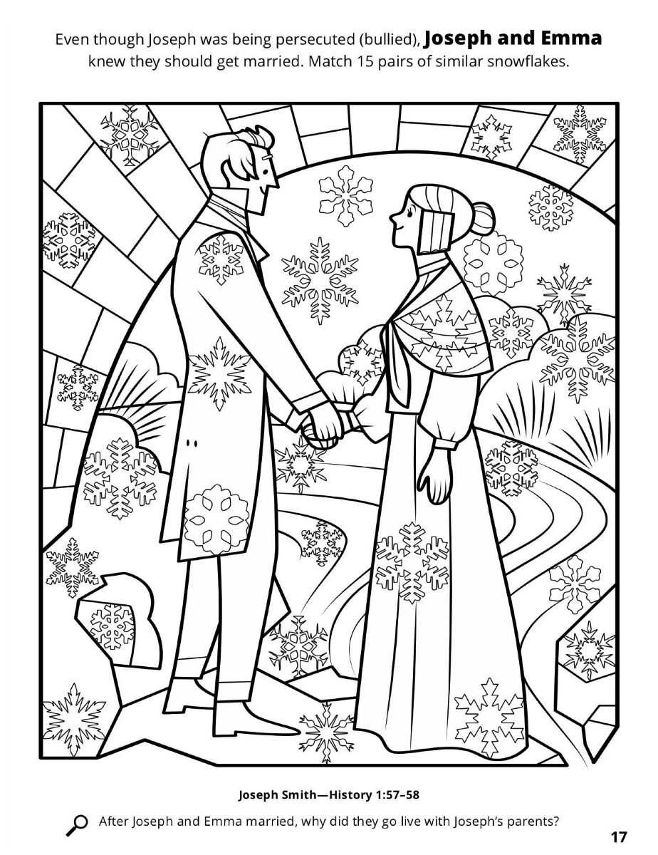 924x1200 Important Pearl Of Great Price Coloring Page Joseph And Emma Smith