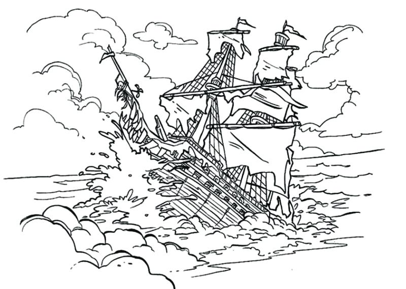 800x570 Movies Cartoons The Black Pearl Sinking In Pirates Of Coloring