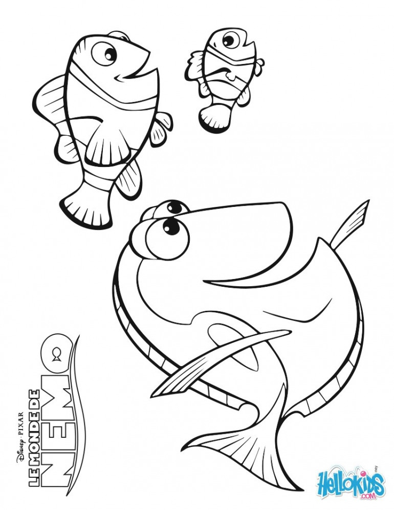 770x996 Nemo Coloring Page Printable Nemo Coloring Pages On Surprising
