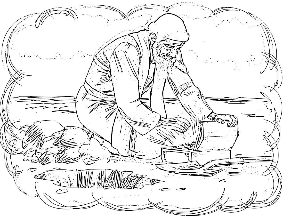 1200x895 Parables Of The Pearl And Hidden Treasure Coloring Pages