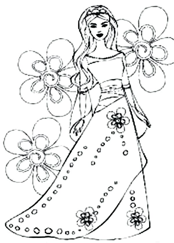 600x840 Barbie Princess Coloring Pages How To Draw Barbie Princess