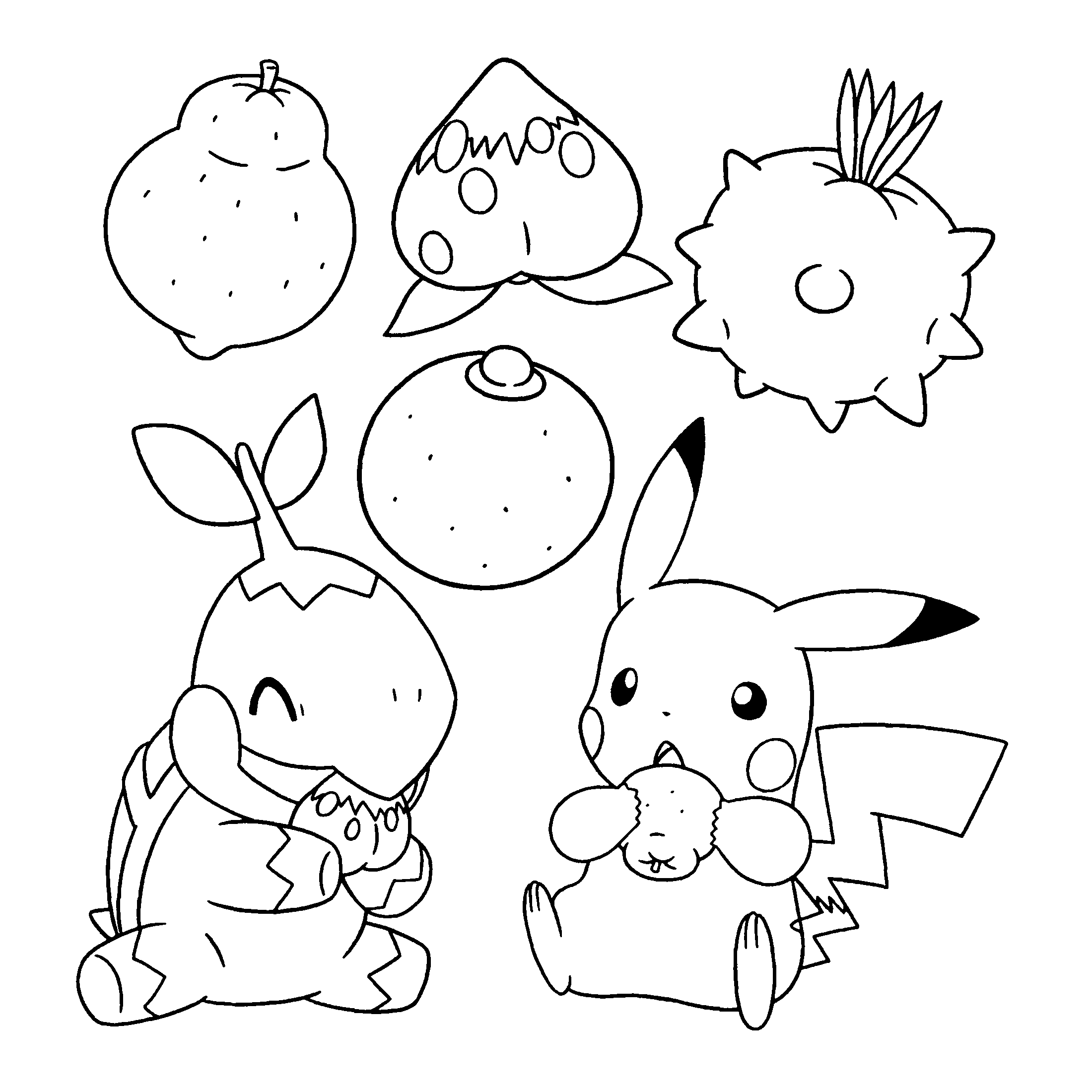 2200x2200 Pokemon Diamond Pearl Coloring Pages