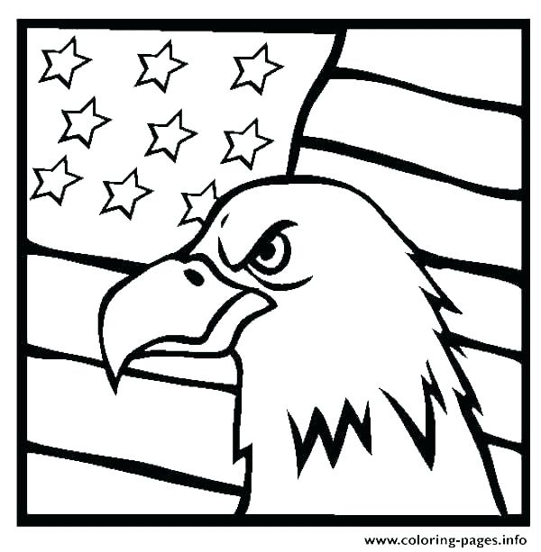 600x613 Coloring Pages Of The American Flag