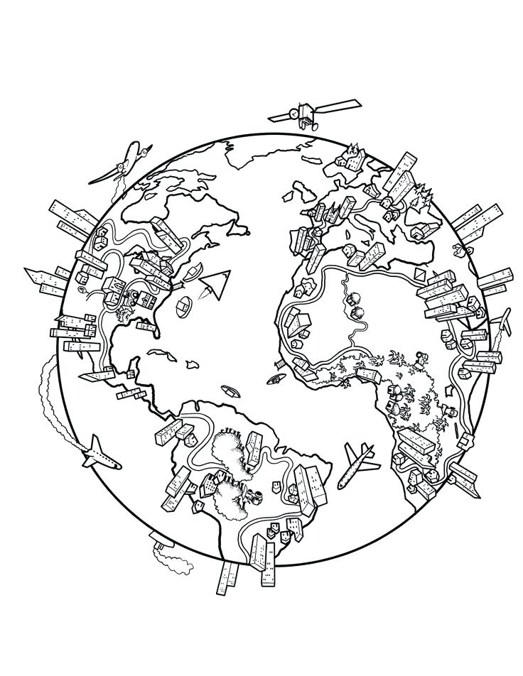736x952 Coloring Pages Of The World