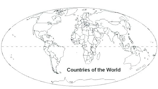 534x300 Coloring Pages Of The World Coloring Page World Map Countries Kids