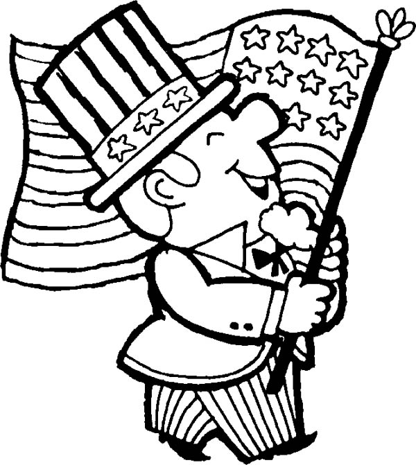 600x671 Kids Coloring Page For Memorial Day