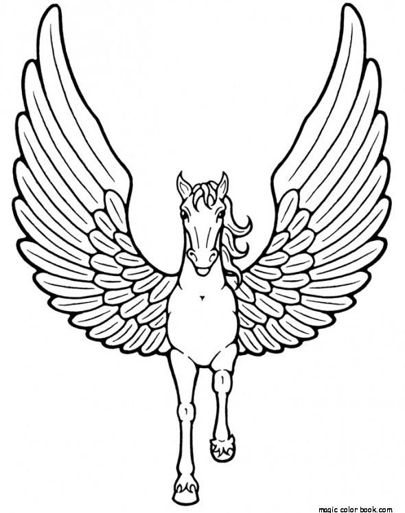 590x747 Pegasus Coloring Pages