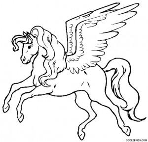 300x289 Pegasus Coloring Pages