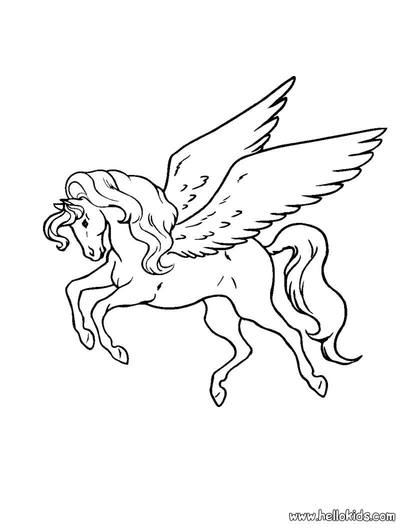 820x1060 Pegasus Coloring Pages