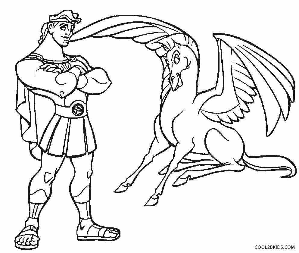 993x840 Unique Disney Hercules Pegasus Coloring Pages Design Printable
