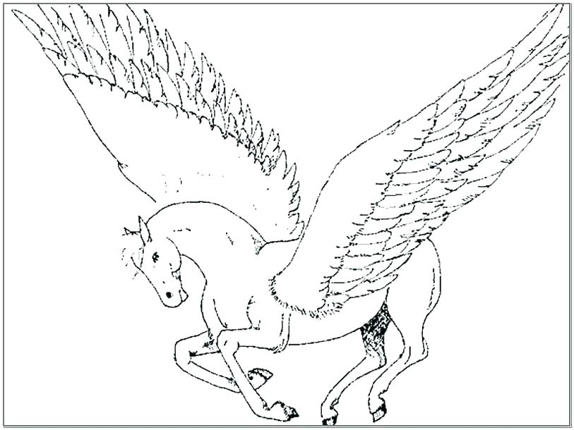 813x610 Coloring Pages Of Pegasus Coloring Pages Coloring Page Printable
