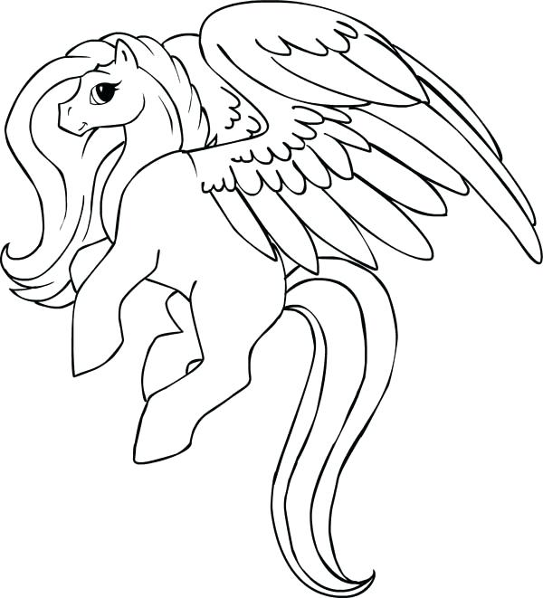 600x661 Pegasus Coloring Pages Beautiful Coloring Page Pegasus Colouring