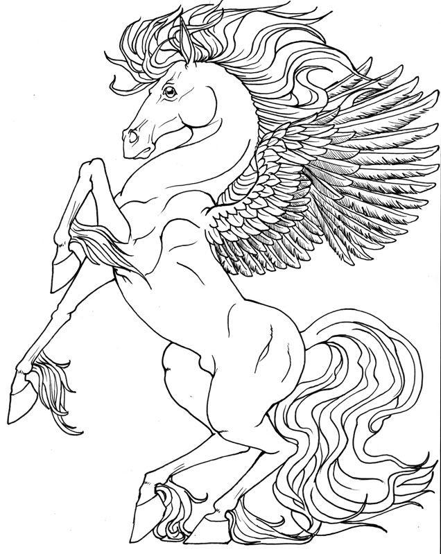 636x799 Best Pegasus To Color Images On Pegasus, Unicorns