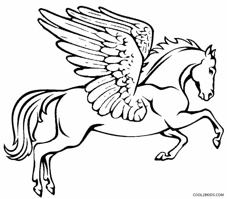736x644 Printable Pegasus Coloring Pages For Adults