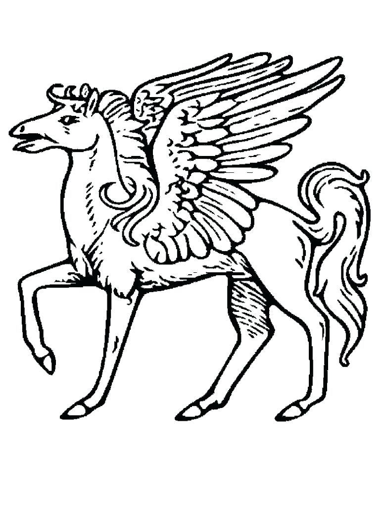 780x1024 Coloring Pages Pegasus Coloring Pages Flying Horse