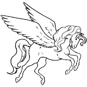 300x300 Awesome Pegasus Coloring Page Awesome Pegasus Coloring Page