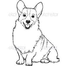 225x225 Corgi Coloring Sheet